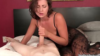Pale Guy With A Huge Cock Enjoys While His Wife Helena Gives A Blowjob