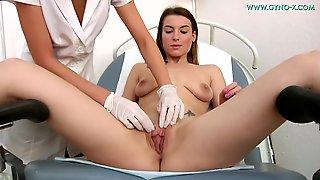 Busty Czech Viktoria Gyno Exam - Medical Fetish