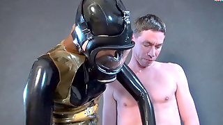 Spandex Glove Job With Mask - Squirt For Me