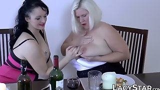 LACY STAR - British Grandma Receives Cum On Her Face After Foursome