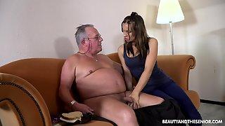 Fresh Cutie Azure Angel Blows Cock Belonged To Ugly Plump Gaffer