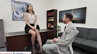Slutty Office Chick Alina Lopez Invites To Penetrate Her Pussy Sitting On The Table