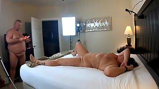 Anniversary Fun: Amateur BBW Couple Shagging In The Hotel Room