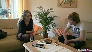 German Stepmom Teach Young Virgin Boy How To Fuck When Alone