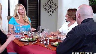 Massive Tits Mature Karen Fisher Pleasures A Guy In The Kitchen