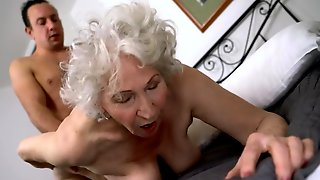 Young Cock Is A Key To The Success Of Old Womans Sexual Pleasure