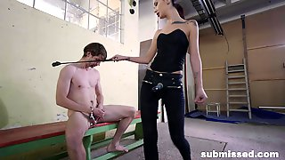 Amateur Torture Video With Begging For Pegging And Her Male Slave