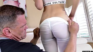 Old Boxing Coach Gets To Fuck That Pretty Girl And She Can Suck Some Dick
