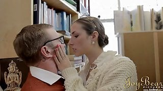 Paige Turnah Seduces Nerd Guy In The Library