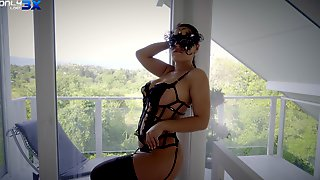 Classy Wife Honey Demon With A Mask Fucked By A Large Manhood