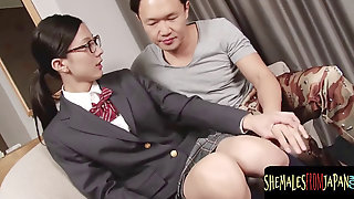Cute Chinese College Girl T-girl Sucking Dick