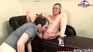 German Wife Fucks Husband With Saggy Tits