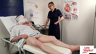 Brit Nurse Hidden Cam Training Sub Patient
