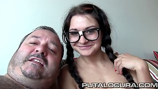 Nerdy Czech Babe With Pigtails Gets Facialized