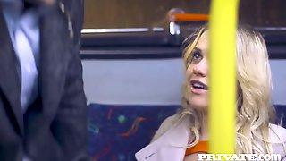 Mia Malkova Gets Caught On The Bus