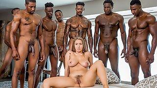 Lena Pauls 8 On 1 Interracial Gangbang