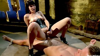 Bobbi Starr Bends Her Male To Her Every Will Before He Gets To Fuck Her