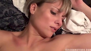 Hot Czech Cutie Close Up Gagging On Husbands Shaft