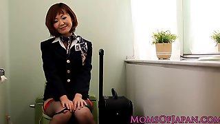Japanese Milf Sayuri Kotose Anal Play On Toilet