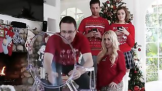 Stepsister Cant Stop Groping Her Brother During Christmas Photo Session
