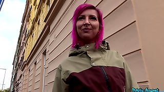 Fucking In The Strip Club With Pink-haired Slut Alex Bee With Piercings