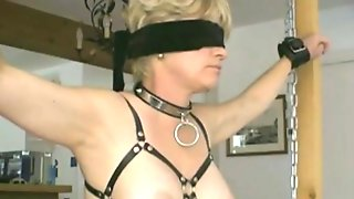My Tied Slave  (from France) Gets Her Slutty Nipples Pierced With Safety Pins