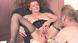 Bi-Granny Deep Throats, Ravages And Wants Her Slit Licked