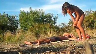 Elegant Chick Dasha Is Enjoying Outdoor Sex With Her Boyfriend