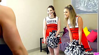 Slutty Cheerleaders, Ember Stone And Athena Faris Are Getting Fucked, Instead Of Having A Rehearsal