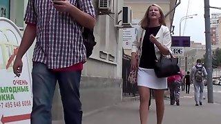 Slovak Voyeur Looked Under Her Skirt