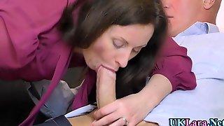 Brit Milf Cum Smeared After Sucking