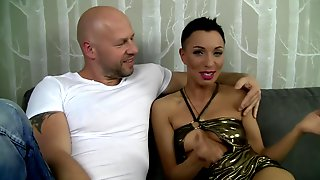 Great Polish Bald Babe Gangbang