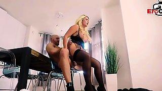 German Blonde Horny Milf Sedcues The Fitnesstrainer
