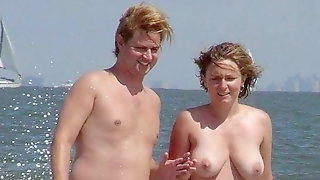 Jerk Off Challenge To The Beat - Nudist Couples