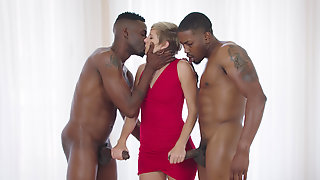 Makenna Blue Sandwiched By Two Black Studs