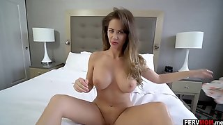 Nailed My Massive Boobs Stepmom Right Before Daddy Came Home