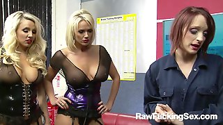 A Female Mechanic Is New To Work And Farrah Fox Is Instructing Two Hot A Female Mechanic
