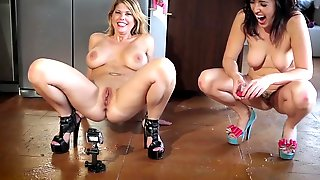The Pee Games - Going For Distance Carissa Vs Dixie