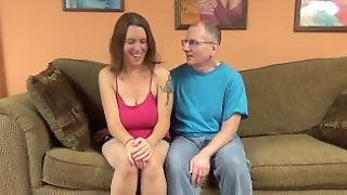 Busty Brunette Cutie Lets An Old Man Pound Her Cunt
