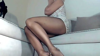 Long Legs   In Pantyhose And Heels