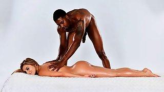 Sensual Oiled Model Moka Mora Gets Fucked By A Massive Black Cock