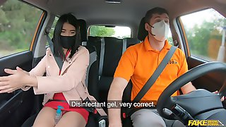Quickie Fucking In The Car Between An Instructor And Lady Deeo