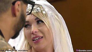 T-Girl Bride Fucks The Black Wedding Planner