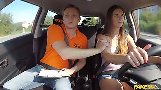 Sweet Babe Lands Entire Dick Up Her Ass During Driving Lesson