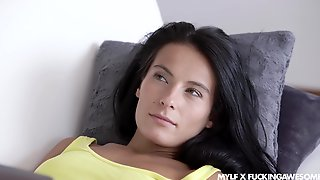 To Reach Orgasm Sexy Black Haired MILF Lexi Dona Enjoys Missionary