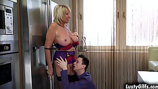Milf Amy Enjoying A Huge Young Meat Inside Her Filthy Mouth