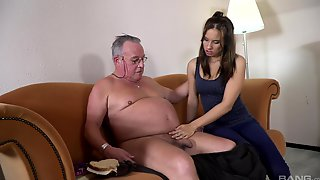 Hot Ass Teen Azure Angel Drops Her Panties To Have Sex With An Old Man