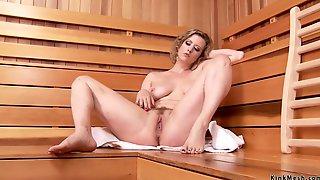 Lesbians Anal Gaping In Sauna