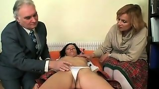 Lovely Teen Joins A Kinky Mature Couple For A Wild Threesome
