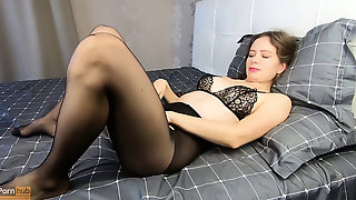 Amateur In Black Pantyhose Jerks With A Squirt - CatherineRain